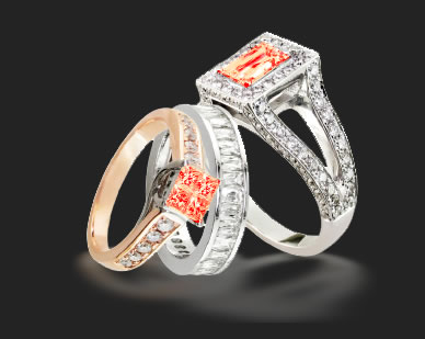 orange diamonds are highly desireable and rare